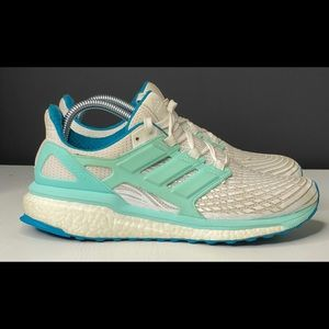 Women's ADIDAS Energy Boost White Blue Shoes